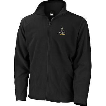 Grøn Howards veteran-licenseret British Army broderet letvægts Micro fleece jakke