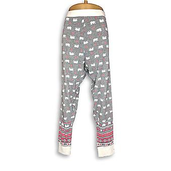 Cuddl Duds Women's Lounge Pants Après Ski Fairisle Gray A342112
