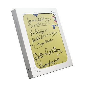 1976 الفائزين في مسابقة كأس اتحاد كرة القدم ساوثمبتون وقع القميص في مربع هدية