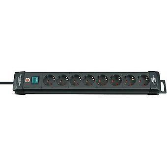Brennenstuhl Premium-Line extension socket 8-way black 3m H05VV-F 3G1,5