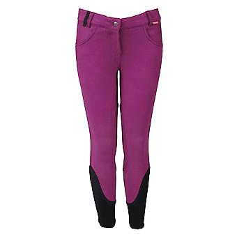 Horka Julia Childrens Fabric Patch Breeches - Purple