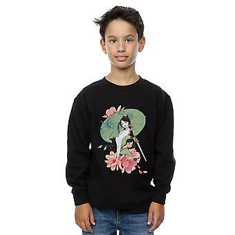 Disney Boys Mulan Magnolia Collage Sweatshirt