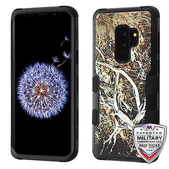 MYBAT Yellow/Black Vine/Black TUFF Hybrid Protector Cover for Galaxy S9 Plus