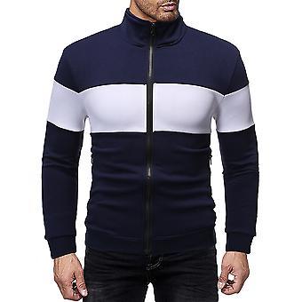 Allthemen Men's Stand Collar Zipper Slim Fit Bomber Jacket