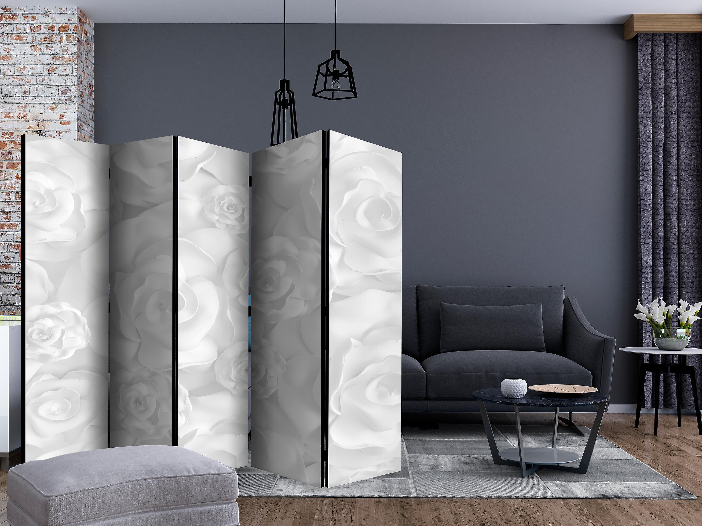 Paravent 5 volets - Plaster Flowers [Room Dividers]
