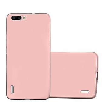 Cadorabo Case for Honor 6 PLUS case case cover - Mobile TPU Silicone Phone Case - Silicone Case Protective Case Ultra Slim Soft Back Cover Case Bumper