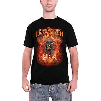 Five Finger Death Punch T Shirt Burn In Sin band logo Official Mens Black