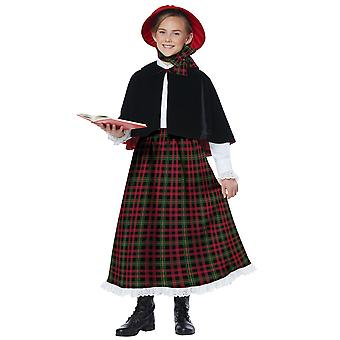 Holiday Caroler Girl Christmas Victorian Olden Day Nativity Child Girls Costume
