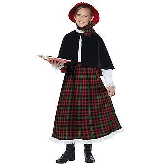 Tatil Caroler Kız Noel Viktorya Olden Gün Doğuş Çocuk Kız Kostüm