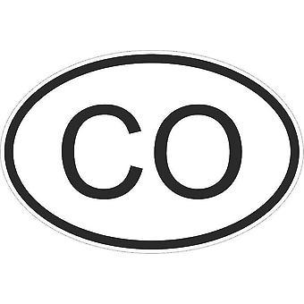 Aufkleber Aufkleber Aufkleber Aufkleber Flagge Oval Code Land Auto Motorrad Kolumbien kolumbianischen Co