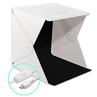 Portable photo Studio with USB-powered LED Lighting