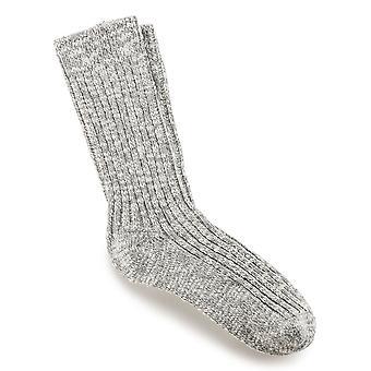 Birkenstock Womens Cotton Slub Socken 1002436 Grau Weiß