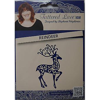 Reindeer: Tattered Lace Metal Die Paper Card Cutting (Christmas)