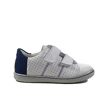 Ricosta Barney 2529700-157 White Leather Boys Rip Tape Casual Trainer Shoes