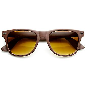 Wood Print Artistic Fashion Classic Horn Rimmed Sunglasses
