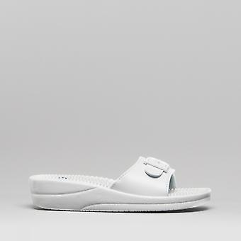 Scholl New Massage Ladies Sandals White