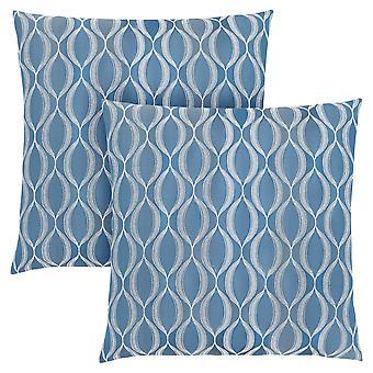 "18"" x 18"" Blue, Wave Pattern - Pillow 2pcs"