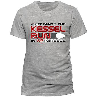 Star Wars Unisex Adults Han Solo Movie Kessel Run Design T-Shirt