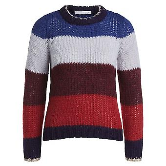 Oui Chunky Knit Sweater With Stripes - 66698