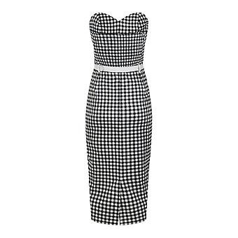 Collectif Vintage Monica Gingham Pencil Dress