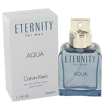 Eternity aqua eau de toilette spray by calvin klein 465807 50 ml