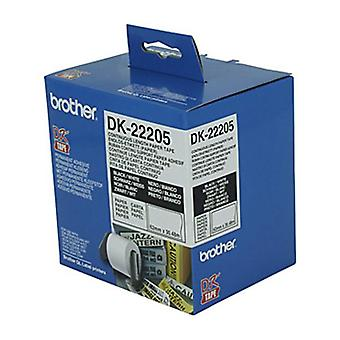 Brother DK22205 62mm X 30,48 meter vit rulle