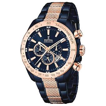 Festina F16886-1 menn ' s to tone multifunksjon armbåndsur