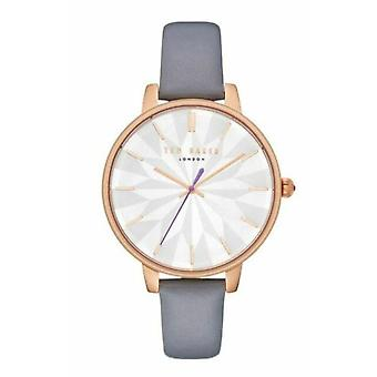 Ted Baker Kate Quartz White Dial Grey Leather Strap Ladies Watch TE50272005