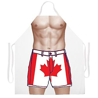 Kanadische Flagge Shorts Schürze