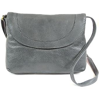 Damen Soft Premiumleder Schulter / Cross Body Bag (schwarz)