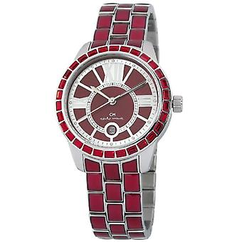 Carlo Monti CMZ01-144-wristwatch, stainless steel, color: Red