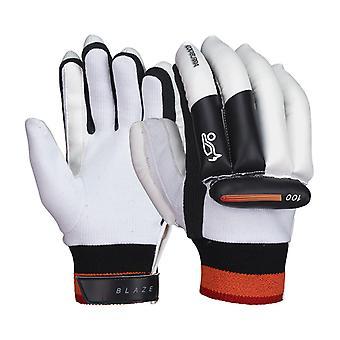 Kookaburra 2018 Blaze 100 mens Kids Cricket guantes de bateo blanco/negro