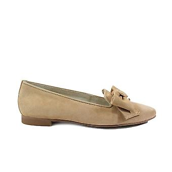 Paul Green 2592-00 Bege Suede Leather Womens Slip On Shoes