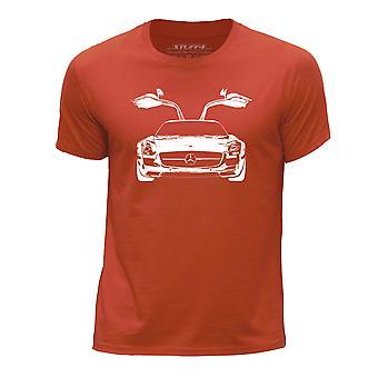 STUFF4 Boy's Round Neck T-Shirt/Stencil Car Art / SLS/Orange