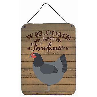 Jersey Giant Chicken Tervetuloa Seinätai ovi Hanging Tulosteet