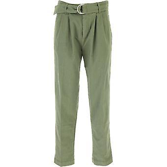 P.a.r.o.s.h. D230396c007 Women's Green Cotton Pants