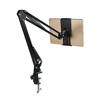 Desktop verstelbare 180 ° luie tablet standaard telefoon houder beugel duurzame clip voor smartphone tablet met een breedte tussen 12cm en 18cm
