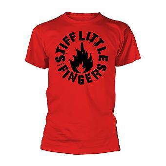 נוקשות אצבעות קטנות לוגו פאנק אדום חולצת טי-שרט של Mens יוניסקס