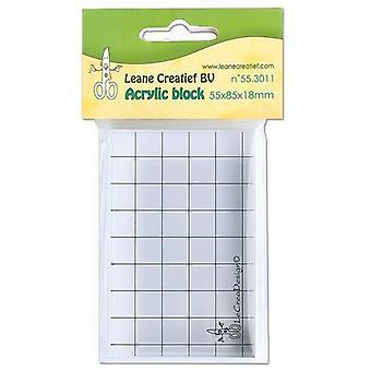 Bloque acrílico Leane Creatief (55x85x18mm) (55.3011)