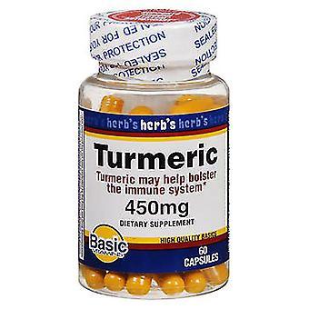 Bază de vitamine curcuma, 450 mg, capsule, 60 ea