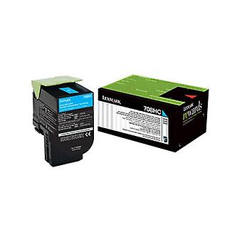 Lexmark 708Xce Cyan Extra High Yield Corporate Toner Cartridge 4K