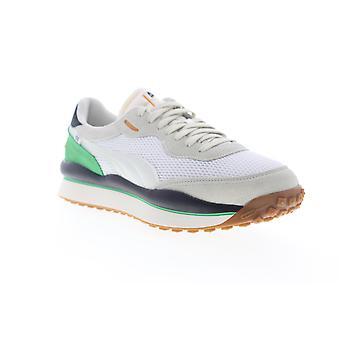 Puma Style Rider Stream ON  Mens White Mesh Low Top Sneakers Shoes