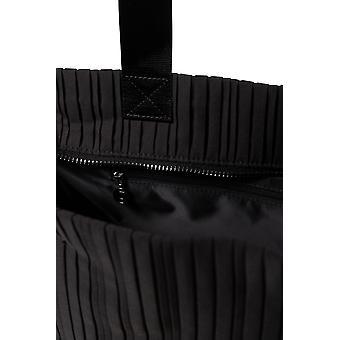 Desigual Preto 2 em 1 Gym Duffle Bag Pleats com Saco de Produtos de Higiene Separados