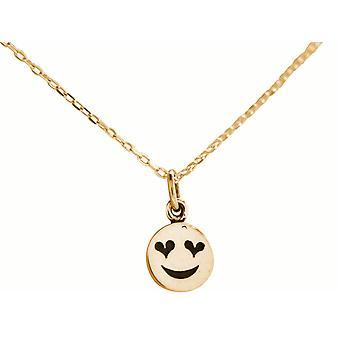 Emoji collier GEMSHINE avec les yeux de coeur en argent 925, or plaqué ou rose