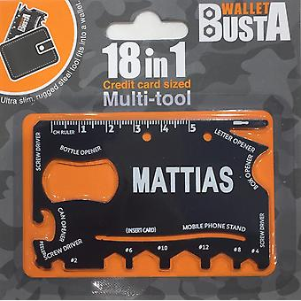 Multitool Multitool MATTIAS credit card debit card
