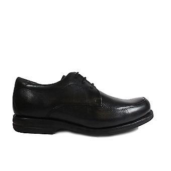 Ανατομική Νέα Recife Μαύρο Δέρμα Mens Ευρεία Fit Δαντέλα Up Παπούτσια