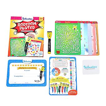 Skillmatics Boredom Buster Educational Write and Wipe Activity Mats Ages 3-6