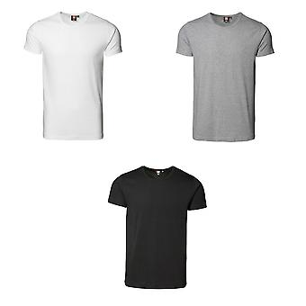 ID Mens 1 x 1 nervure Fitted T-Shirt manches courtes
