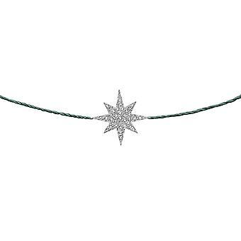 Choker Stella 18K Or et Diamants, sur Thread - Or blanc, Arbre de Pin