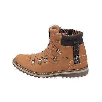 Zebra Schuhe Mima Kinder Mädchen Stiefel Beige Schnür-Stiefelette Winter